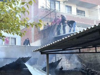 Aydın'da Apartman Sakinleri Yangını Hortumlarla Söndürdü