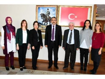 Baro Temsilcisi Av. Emel Şahin, Başkan Alıcık'ı Ziyaret Etti