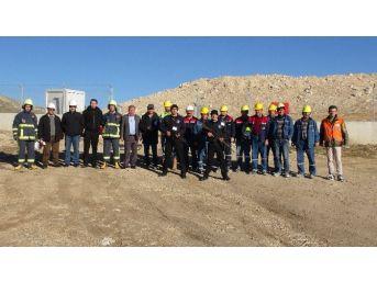 Eti Maden Kırka Bor İşletmesinde Sabotaj Ve Yangın Tatbikatı