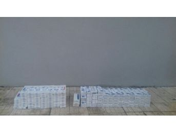 Ömerli'de Bin 470 Paket Kaçak Sigara Ele Geçirildi