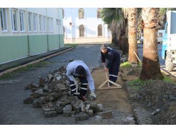Kırkpınar Meydanında Çalışmalar Devam Ediyor