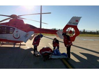 12 Yaşındaki Çocuk İçin Ambulans Helikopterler Seferler Oldu