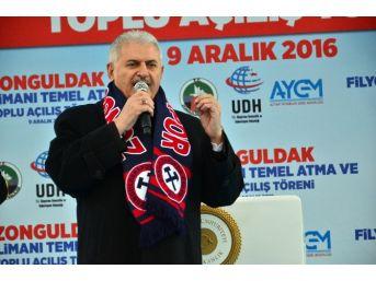 """Başbakan Yıldırım: """"türkiye'nin Üçüncü Büyük Liman Projesinin Temelini Atmaya Geldik"""""""