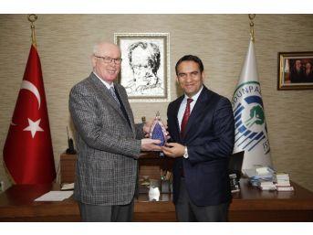 Damal Ve Sultandağı Belediye Başkanları Başkan Kurt'u Ziyaret Etti