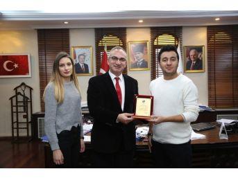 Saü Sapanca Turizm Fakültesi Turizm Topluluğundan Başkan Yılmazer'e Ziyaret