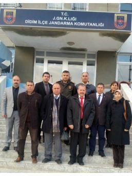 Didim'de Türk Eğitim Sen Üyelerinden Güvenlik Güçlerine Moral Ziyareti
