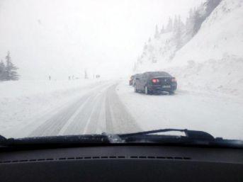 Kar, Akseki- Seydişehir Yolunda Ulaşımı Engelliyor