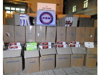 Ordu'da 155 Bin Paket Kaçak Sigara Ele Geçti
