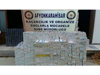 Ev Eşyaları Arasına Gizlenmiş 64 Bin 160 Paket Kaçak Sigara Ele Geçirildi