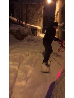 Mahallede Snowboard Keyfi