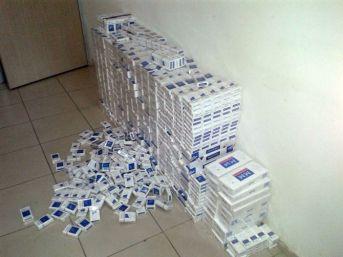 Otomobilden 3 Bin Paket Kaçak Sigara Çıktı