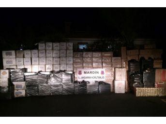 Mardin'de 102 Bin 500 Paket Kaçak Sigara Ele Geçirildi