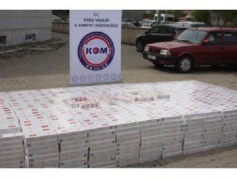 Ordu'Da 38 Bin 560 Paket Kaçak Sigara Ele Geçirildi
