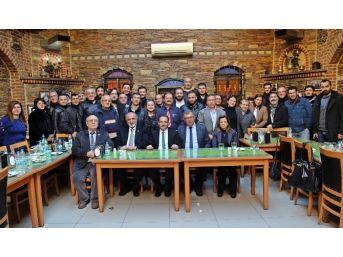 Başkan Cahan, Uşak'taki Basın Mensuplarıyla Buluştu