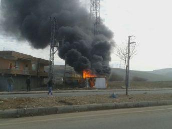 Konteyner Yangını Korkuttu