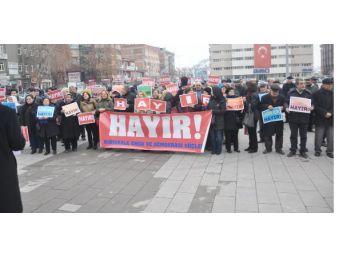 Kırıkkale'de 'anayasa Değişikliğine Hayır' Eylemi