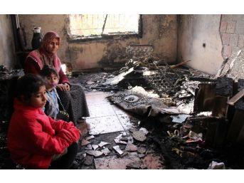 (özel Haber) Yangından Son Anda Canlarını Kurtaran Aile Yardım Bekliyor