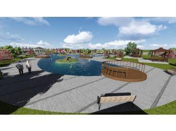 Arifiye'de Yapılan Kuğulu Park İnşaatı Devam Ediyor