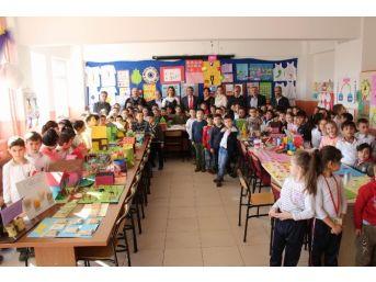 İlkokul Öğrencilerinden Dönem Sonu Sergisi