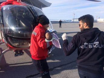 Karaciğer Nakli Yapılacak Bebek Ambulans Helikopterlerle Nakledildi