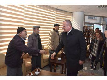 Başkan Keleşten Yaşlılar Evine Ziyaret