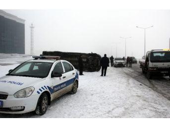 Erzurum'da Yoğun Sis Uçak Seferlerini Aksattı