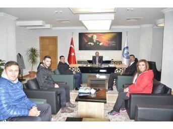 Erciş Belediye Spor Derneği Başkanlığından Belediyeye Ziyaret