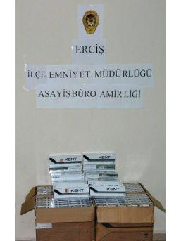 Erciş'te Gümrük Kaçağı Sigara Ele Geçirildi