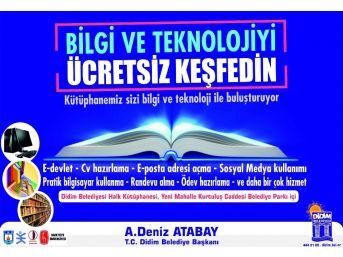 Didim Belediyesi, Herkes İçin Kütüphane Projesine Katıldı