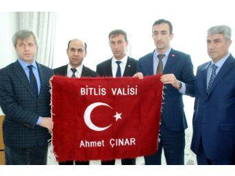 Bitlis Valisi Çınar Şehit Ve Gazi Aileleri İle Bir Araya Geldi