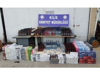 Kilis'te 545 Şişe Sahte Alkol Ele Geçirildi