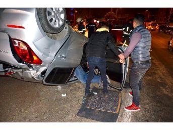 Milas'ta Bir Otomobil Takla Attı; 1'i Ağır 2 Yaralı