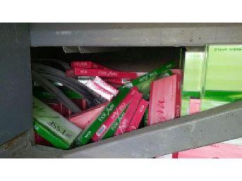 Yolcu Otobüsünde 35 Bin Paket Kaçak Sigara Ele Geçti