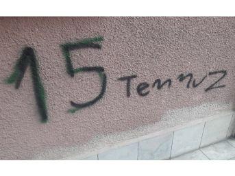 Duvar Boyayıp, Cam Kıran Esrarengiz Şüpheli Bina Sakinlerinin Korkulu Rüyası Oldu
