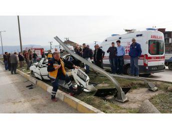 Düzce'de Otomobil Takla Attı Gençler Ölümden Döndü