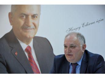 "Ak Parti Edirne İl Başkanı Akmeşe: ""referandumda Hedef Yüzde 55"""