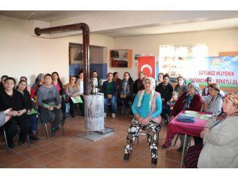 Kadın Çiftçilere Hijyenik Süt Üretimi Kursu