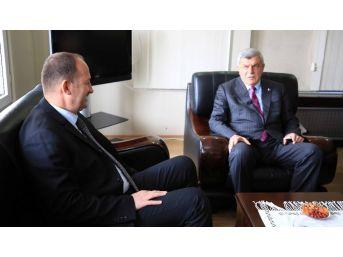 Başkan Karaosmanoğlu'ndan, Başiskele Kaymakamı'na Ziyaret