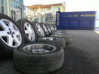 Otomobillerin Jant Ve Lastiğini Çalan Şüpheliler Yakalandı