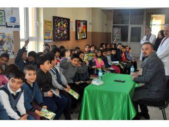 Yazar Çavdar, 3 İlkokulda Öğrencilerle Buluştu