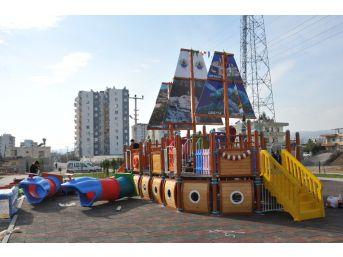 Erdemli'de Çocuklar İçin İkinci Gemi Park Yapıldı