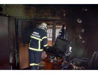 Erbaa'da Tek Odalı Evde Yangın