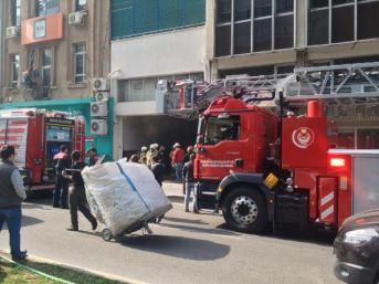 Konak Telekom'da Korkutan Yangın