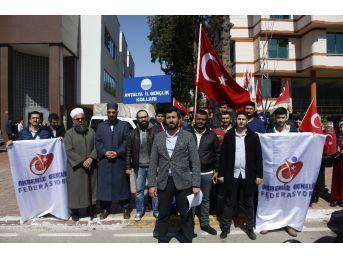 Hollanda'nın Antalya Fahri Konsolosluğu Önünde Protesto