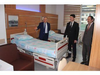 Kaymakam Türköz Yeni Hastanede İncelemelerde Bulundu