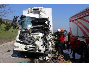 Tem'de Tır'a Çarpan Kamyonun Sürücüsü Öldü