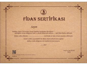 Omü'de Artık Plaket Yerine Fidan Sertifikası