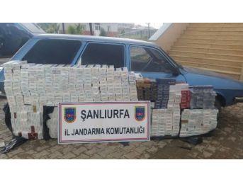 Akçakale'de 6 Bin Paket Kaçak Sigaraya 2 Gözaltı