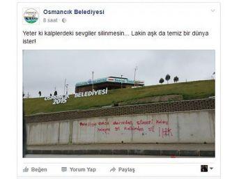 Belediye, Duvar Yazısına Sosyal Medya Üzerinden Cevap Verdi