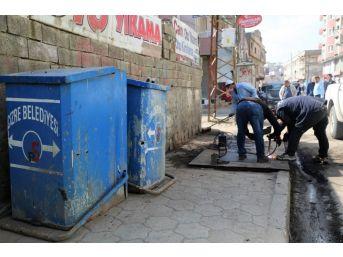 Cizre Belediyesi'nde Temizlik Ve Hijyen Çalışması
